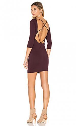 Платье с рукавом 3/4 David Lerner. Цвет: красное вино
