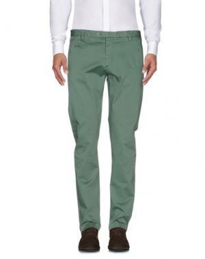 Повседневные брюки EXIBIT. Цвет: зеленый