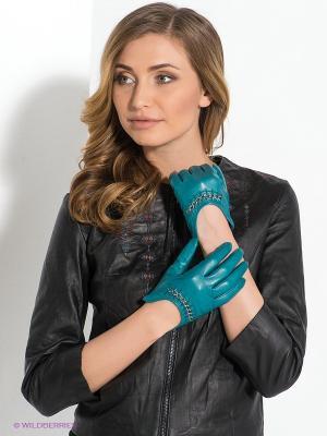 Перчатки Eleganzza. Цвет: бирюзовый