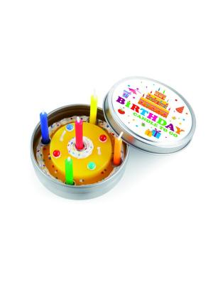 Набор из 6-ти свечек Birthday Donkey. Цвет: желтый