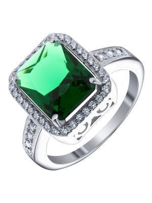 Кольцо Teosa. Цвет: зеленый