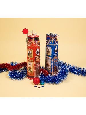 Набор для шитья и вышивания чехол на бутылку Домик красный Матренин Посад. Цвет: красный
