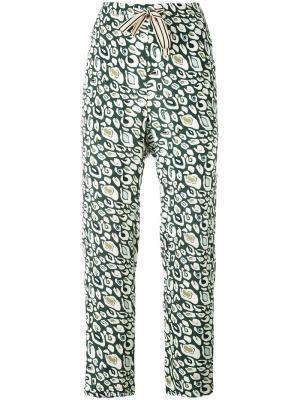 Зауженные брюки Vael Bellerose. Цвет: зелёный