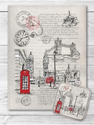 Набор кухонный Лондон GrandStyle. Цвет: красный, белый, черный, сиреневый