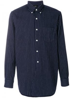 Полосатая рубашка на пуговицах Bellerose. Цвет: синий