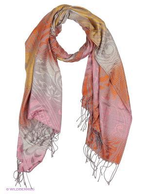 Палантин Vita pelle. Цвет: розовый, желтый, оранжевый
