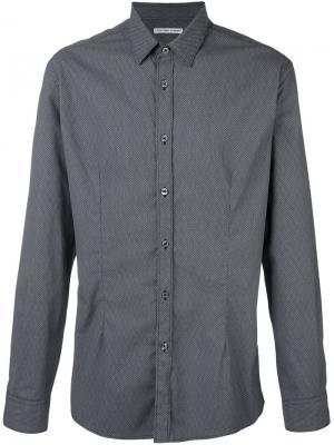Жаккардовая рубашка Daniele Alessandrini. Цвет: чёрный