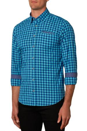 Рубашка Gabano. Цвет: голубой