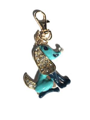 Брелок Собака Lola. Цвет: синий, голубой, золотистый