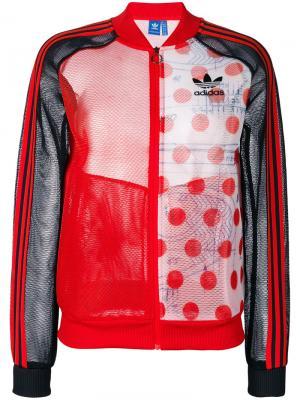 Спортивная куртка Adidas Originals. Цвет: жёлтый и оранжевый
