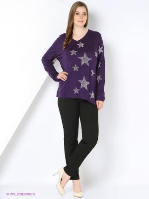 Пуловер Open End. Цвет: фиолетовый