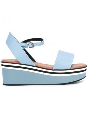 Platform sandals Robert Clergerie. Цвет: синий