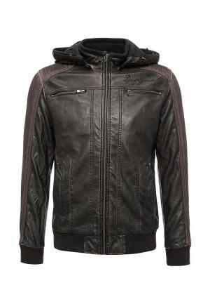 Куртка кожаная Desigual. Цвет: коричневый