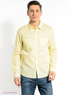 Рубашка CONVER. Цвет: желтый