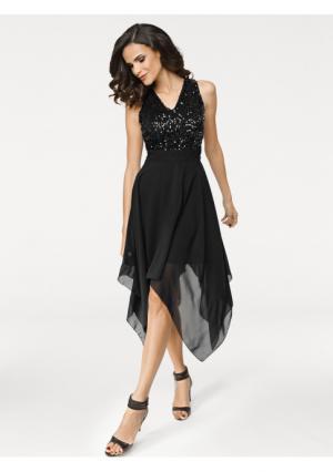 Коктейльное платье ASHLEY BROOKE by Heine. Цвет: черный