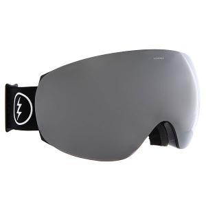 Маска для сноуборда  Eg3.5 Gloss Black+Black/Brose/Silver Chrome Electric. Цвет: черный