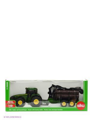 Трактор с трейлером для лесоматериалов SIKU. Цвет: темно-зеленый