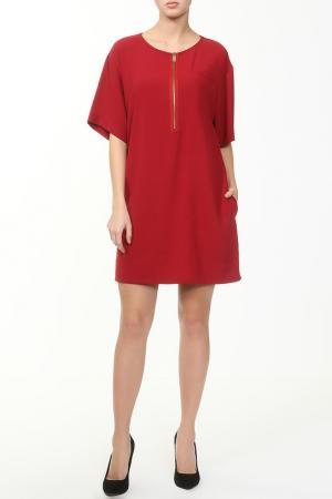 Платье Frankie Morello. Цвет: красный