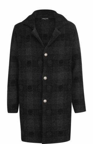 Однобортное шерстяное пальто Gemma. H. Цвет: черный