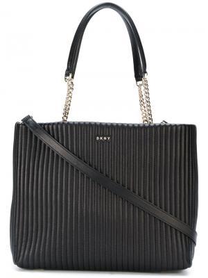 Большая сумка-шоппер Donna Karan. Цвет: чёрный