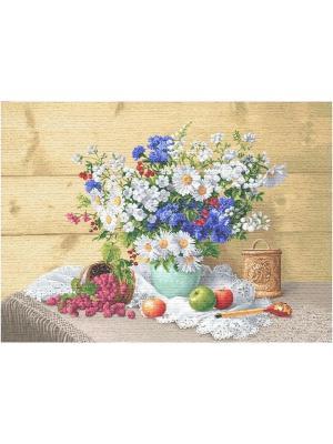Гобелен Подарок бабушке Рапира. Цвет: бежевый, белый, синий