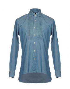 Джинсовая рубашка BAGUTTA. Цвет: синий
