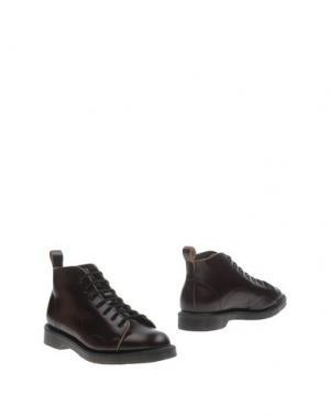 Полусапоги и высокие ботинки GEORGE COX. Цвет: баклажанный