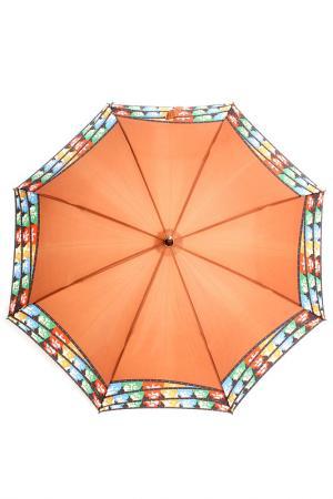 Зонт-трость H.DUE.O. Цвет: коричневый