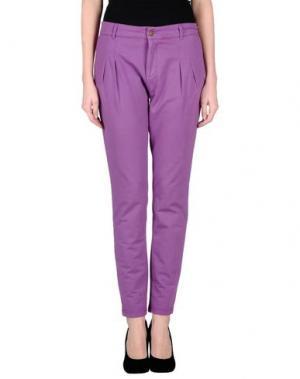 Повседневные брюки PRAIO. Цвет: розовато-лиловый