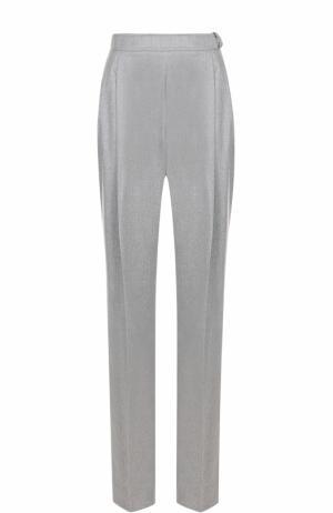 Шерстяные брюки свободного кроя Carven. Цвет: серый