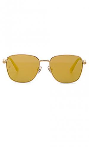 Солнцезащитные очки highland Wonderland. Цвет: металлический золотой