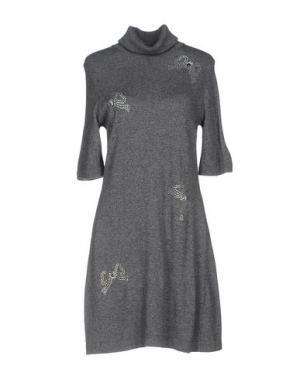 Короткое платье NAUGHTY DOG. Цвет: серый