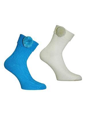 Носки 2 пары Master Socks. Цвет: голубой, белый