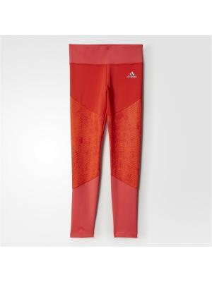 Леггинсы дет. спорт. YG TF TIGHT Adidas. Цвет: розовый