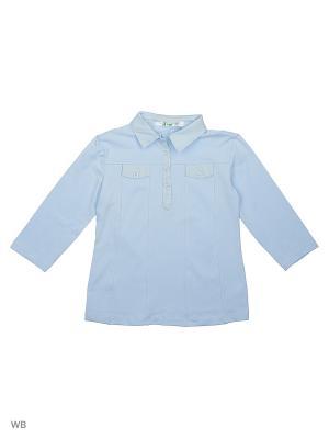 Блузка LIK. Цвет: голубой