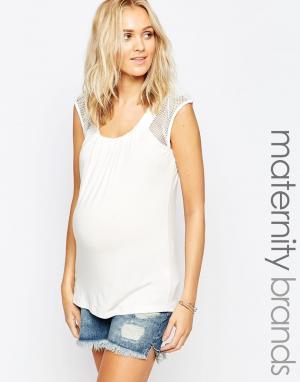 Ripe Топ для беременных с сетчатыми вставками Maternity Jules. Цвет: розовый