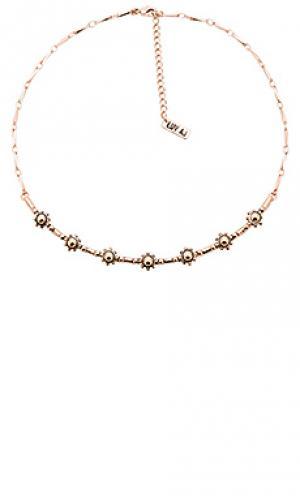 Ожерелье с подвесом baroque Luv AJ. Цвет: металлический медный