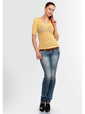 Пуловер Happychoice. Цвет: желтый