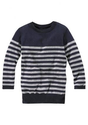 Удлиненный пуловер KIDOKI. Цвет: бордовый в полоску, темно-синий/в полоску