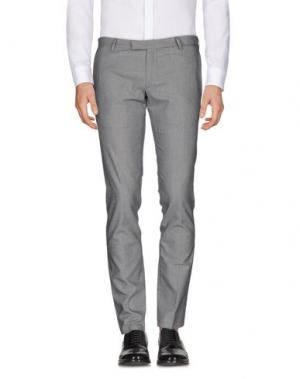 Повседневные брюки DAVID NAMAN. Цвет: серый