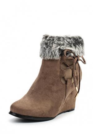 Ботильоны Sweet Shoes. Цвет: коричневый