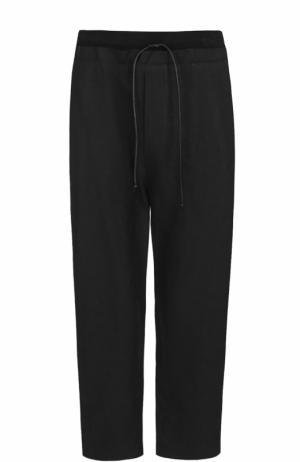 Льняные брюки свободного кроя Isabel Benenato. Цвет: черный