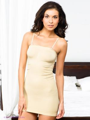 Платье-бюстье Charmante. Цвет: бежевый