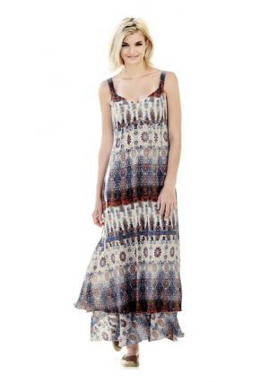 Платье макси Mandarin. Цвет: цветной