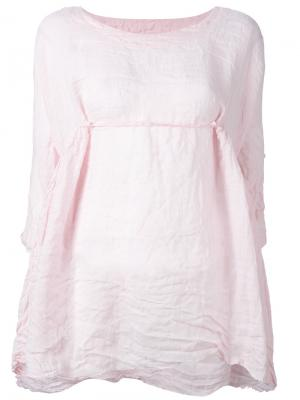 Front-tie flared blouse Daniela Gregis. Цвет: розовый и фиолетовый