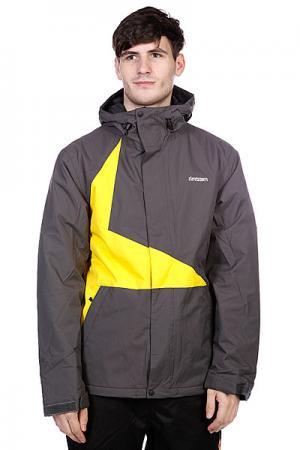 Куртка  Snow Jacket Vega Men Dark Grey/Yellow Zimtstern. Цвет: желтый,черный