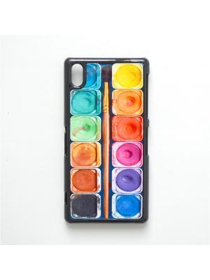 Чехол для Sony Xperia Z2 Акварель с кисточкой Boom Case. Цвет: антрацитовый
