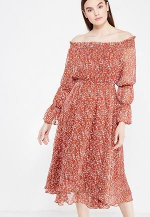 Платье Lusio. Цвет: коричневый