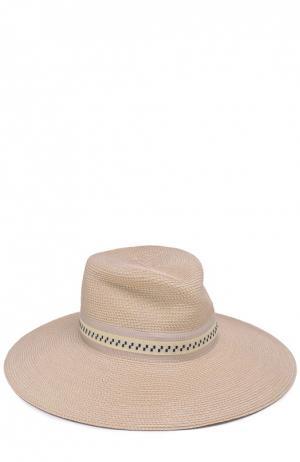 Шляпа с лентой Eric Javits. Цвет: кремовый
