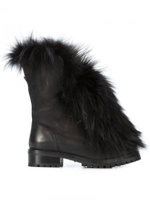 Ботинки с меховой отделкой Sartore. Цвет: чёрный